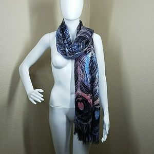 Accessories - Purple and blue feather scarf